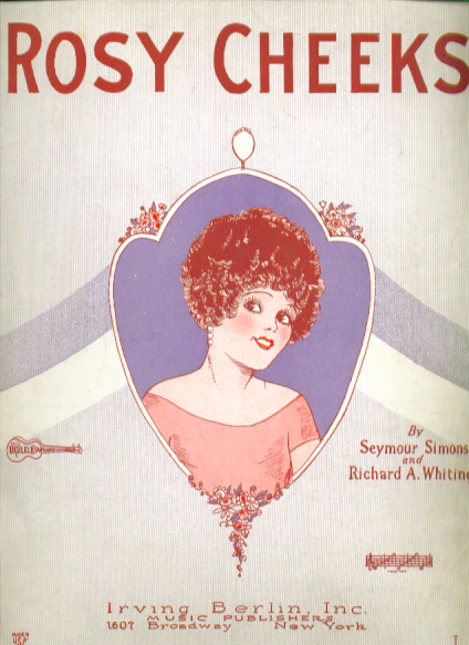 Image for Rosy Cheeks 1927 Sheet music