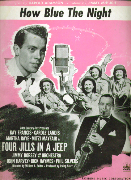 Image for How Blue the Night 1944 Sheet music