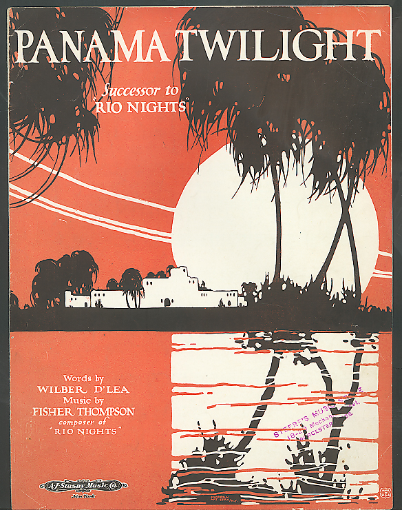 Panama Twilight D'Lea Thompson sheet music 1922