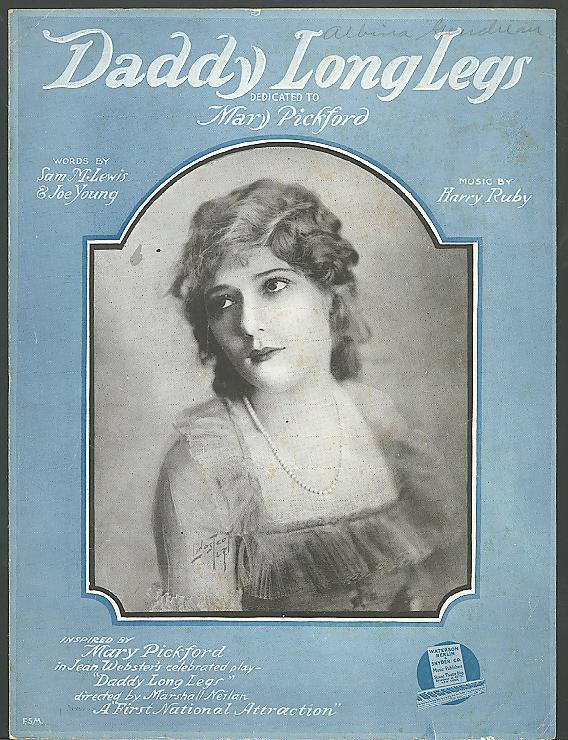 Daddy Long Legs Mary Pickford sheet music 1919