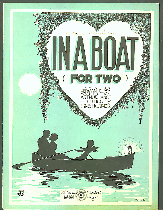 In A Boat For Two Herman Ruby sheet music 1921