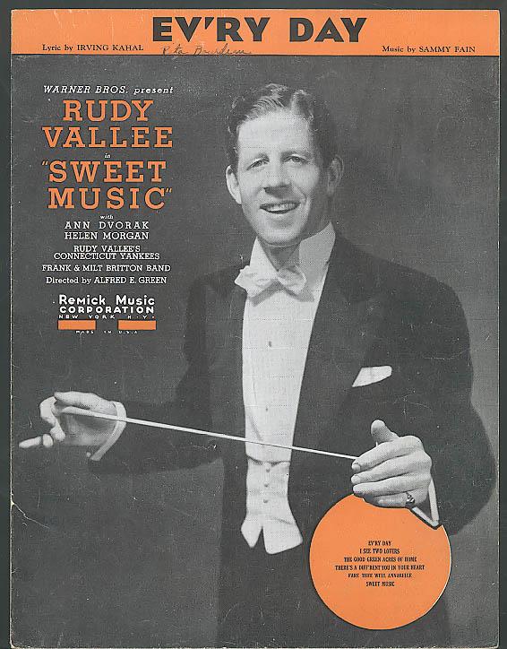 Ev'ry Day Rudy Vallee Sweet Music sheet music 1934