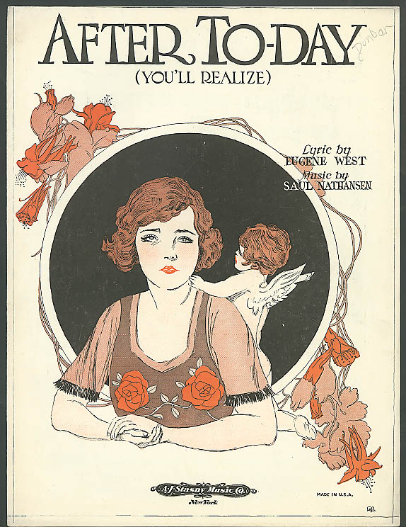 After To-Day You'll Realize sheet music 1922