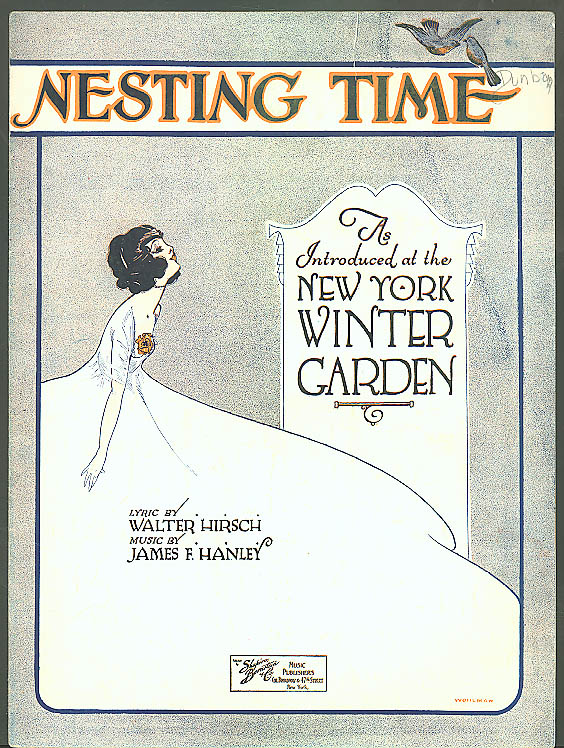 Nesting Time New York Winter Garden sheet music 1921