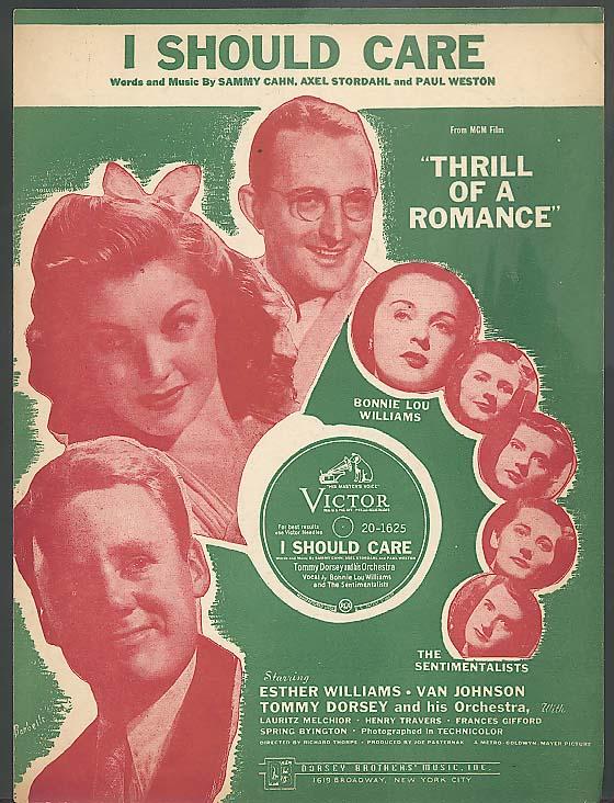 I Should Care sheet music 1944