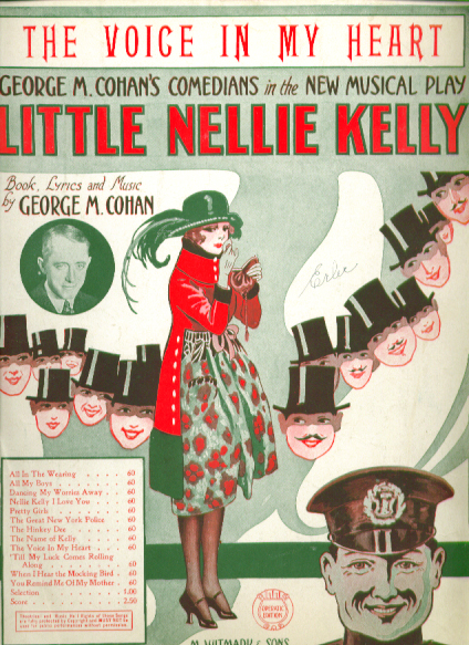 Image for Voice in My Heart 1922 sheet music George M Cohan Little Nellie Kelly