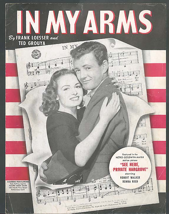 In My Arms sheet music See Here Private Hargrove 1943