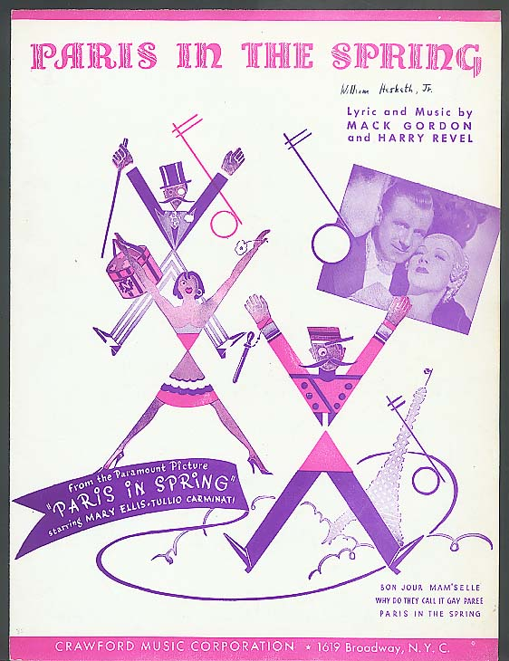 Paris in the Spring sheet music 1935