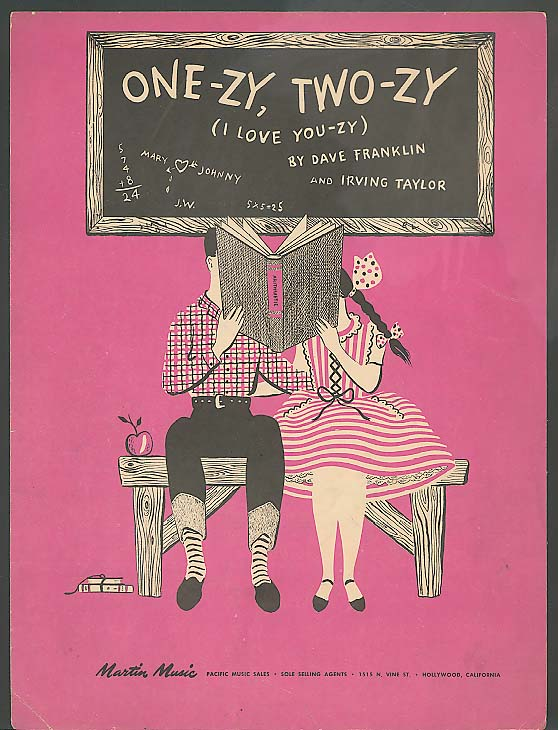 One-zy, Two-zy sheet music 1946