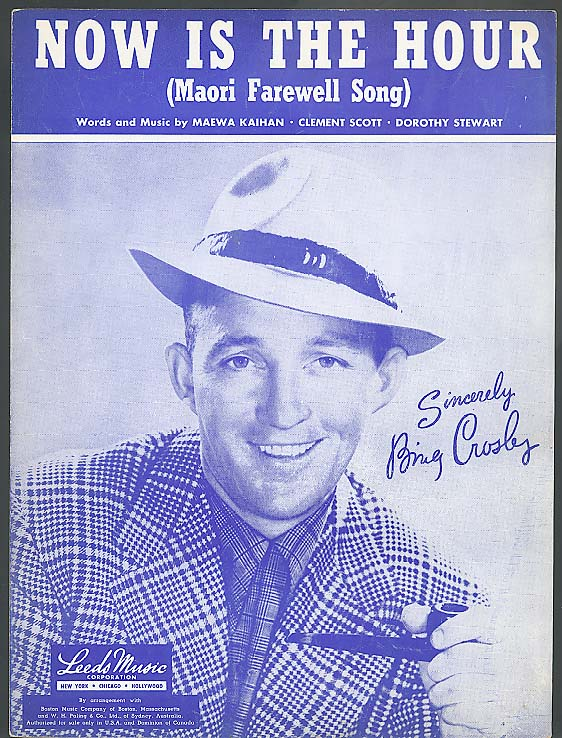 Now is the Hour sheet music 1946