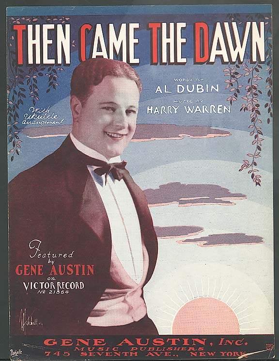 Then Came The Dawn sheet music 1928