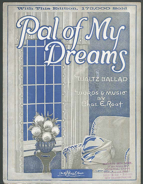 Pal of My Dreams sheet music 1923