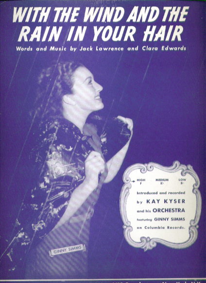 Image for With the Wind & the Rain in Your Hair sheet music 1940