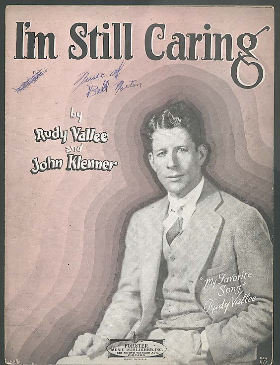 I'm Still Caring sheet music 1929