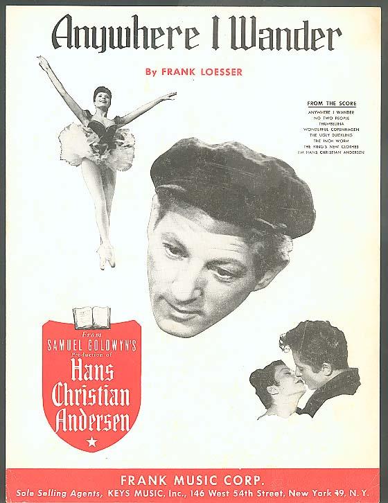 Anywhere I Wander sheet music 1951
