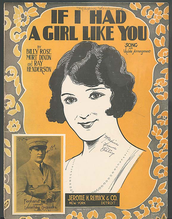 If I Had A Girl Like You sheet music 1925