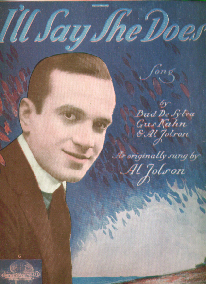 Image for I'll Say She Does 1918 Sheet music Al Jolson