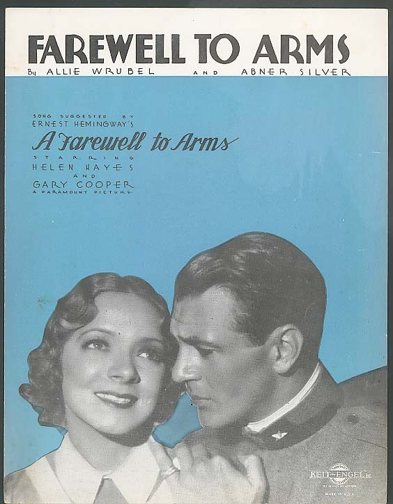 Farewell To Arms sheet music 1933