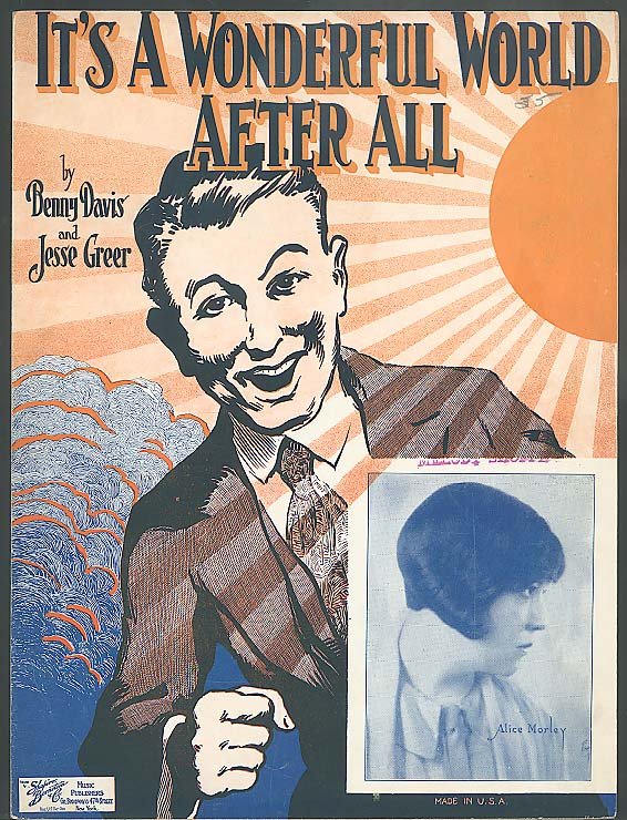 It's A Wonderful World After All sheet music 1926