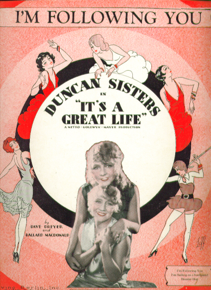 I'm Following You 1929 music Duncan Sisters