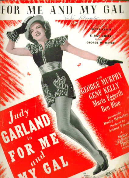 For Me & My Gal 1942 Sheet music Judy Garland