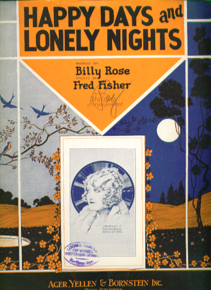 Happy Days & Lonely Nights 1928 sheet music