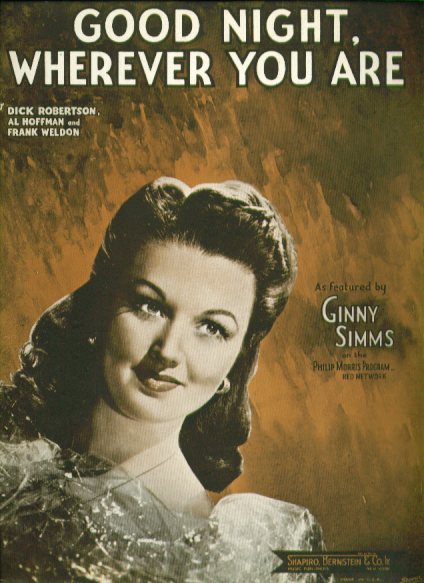 Good Night Wherever You Are 1945 Sheet music
