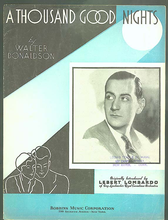 A Thousand Good Nights sheet music 1934