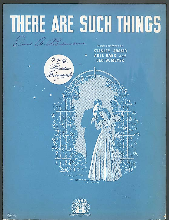 There Are Such Things sheet music 1942