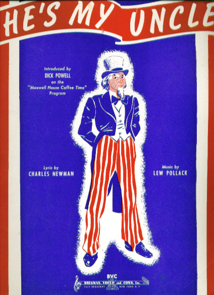 He's My Uncle Sam 1940 patriotic Sheet music