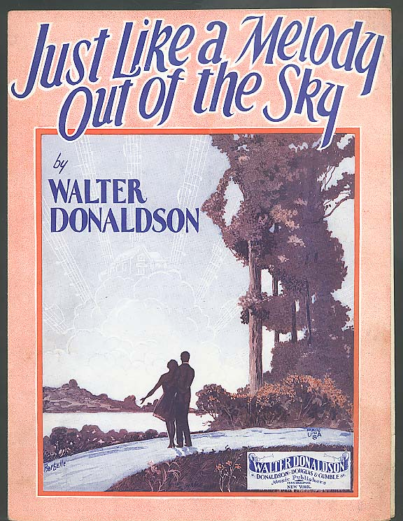 Just Like A Melody Out of the Sky sheet music 1928