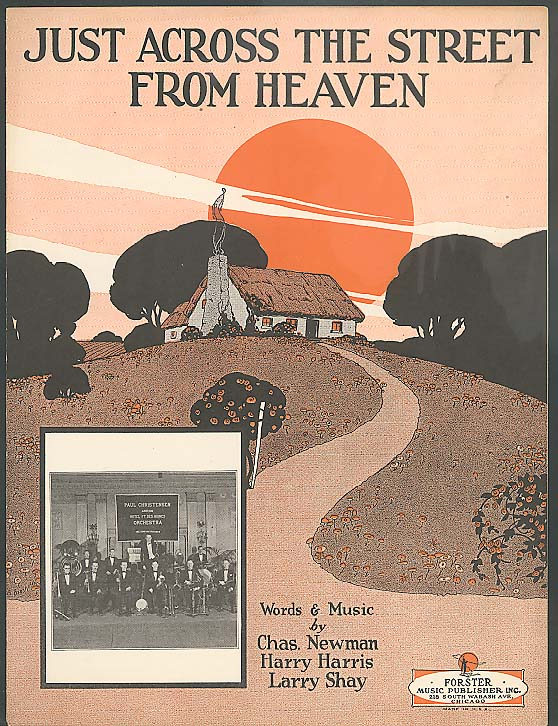 Just Across The Street From Heaven sheet music 1928