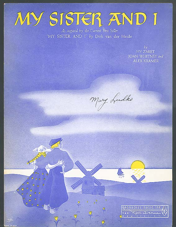 My Sister And I sheet music 1941
