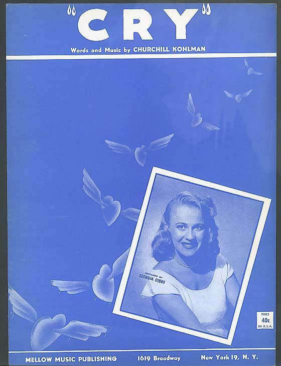 Cry sheet music 1951