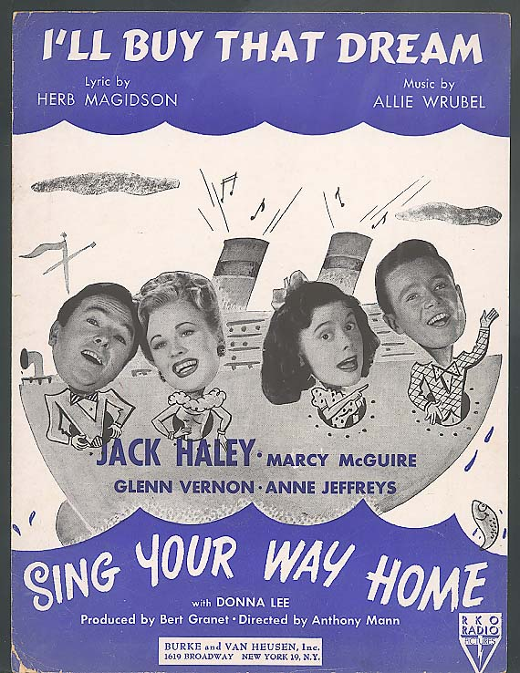 I'll Buy That Dream sheet music Sing Your Way Home 1945
