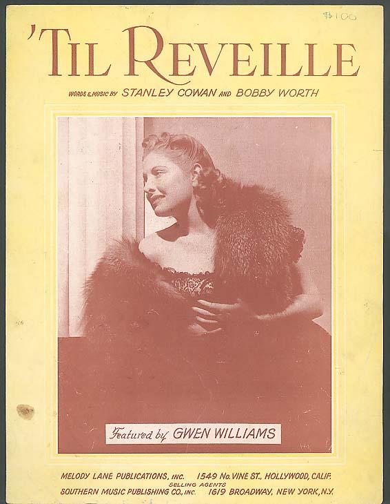'Til Reveille sheet music 1949