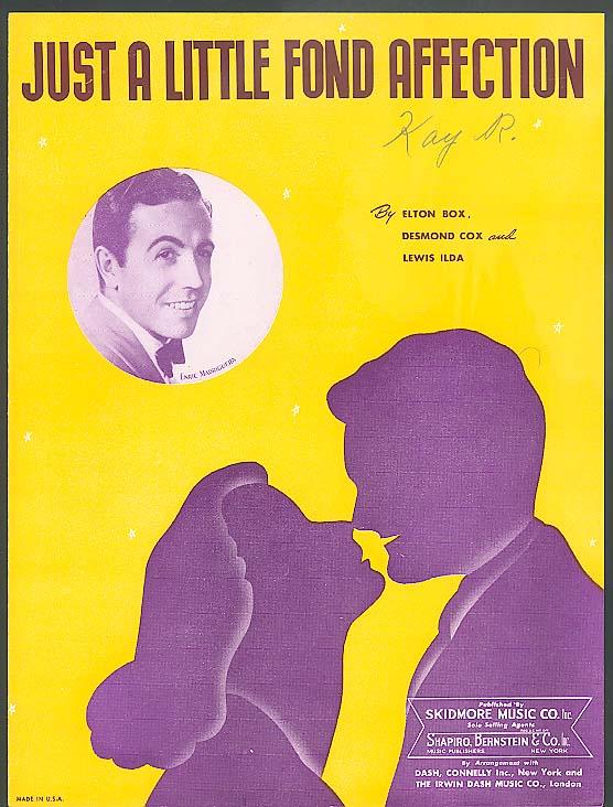 Just A Little Fond Affection sheet music 1944 Enric Madriguera