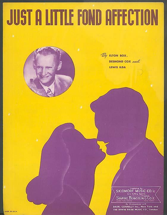 Just A Little Fond Affection sheet music 1944