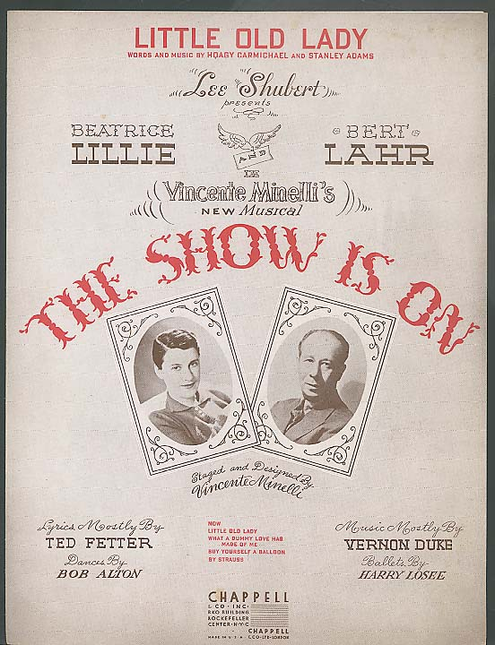Little Old Lady sheet music The Show Is On 1936