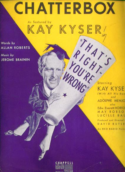 Chatterbox 1939 sheet music Kay Kyser