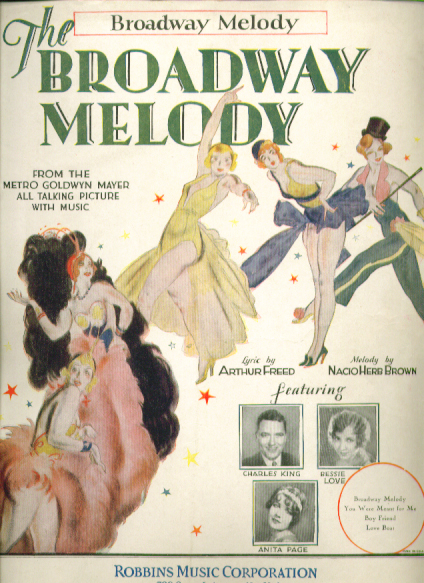 Broadway Melody 1929 sheet music Bessie Love