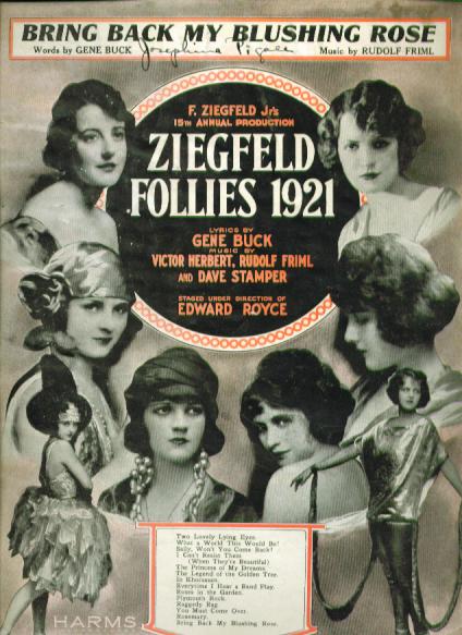 Image for Bring Back My Blushing Rose 1921 sheet music