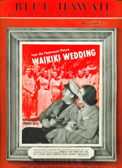 Blue Hawaii 1937 sheet music Bing Crosby