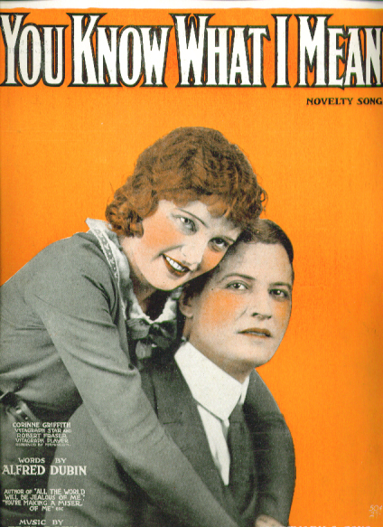 Image for You Know What I Mean 1919 sheet music