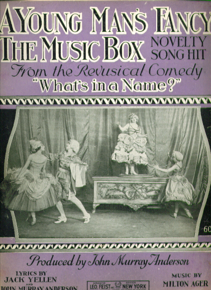 A Young Man's Fancy Music Box 1920 music
