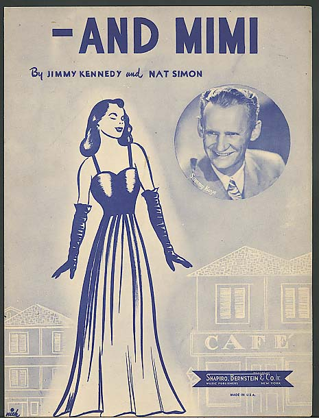 Image for And Mimi 1947 sheet music Sammy Kaye