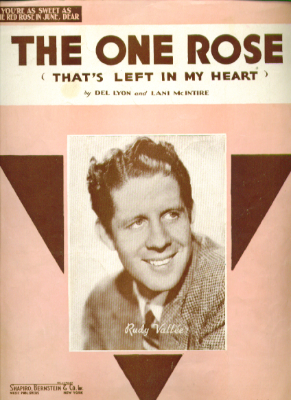 Image for The One Rose 1936 sheet music Rudy Vallee