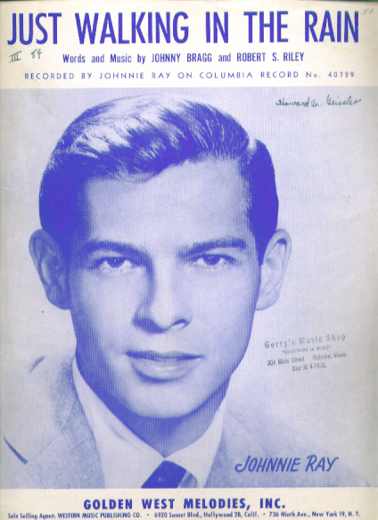 Just Walking in the Rain sheet music 1953 Johnnie Ray