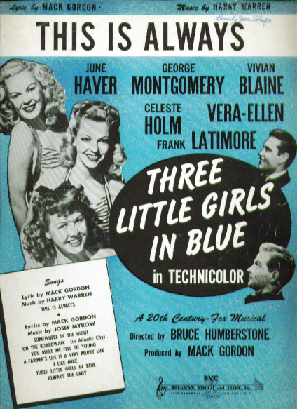 Image for This is Always 1946 sheet music June Haver