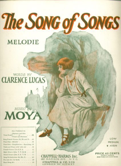 Image for The Song of Songs 1914 sheet music